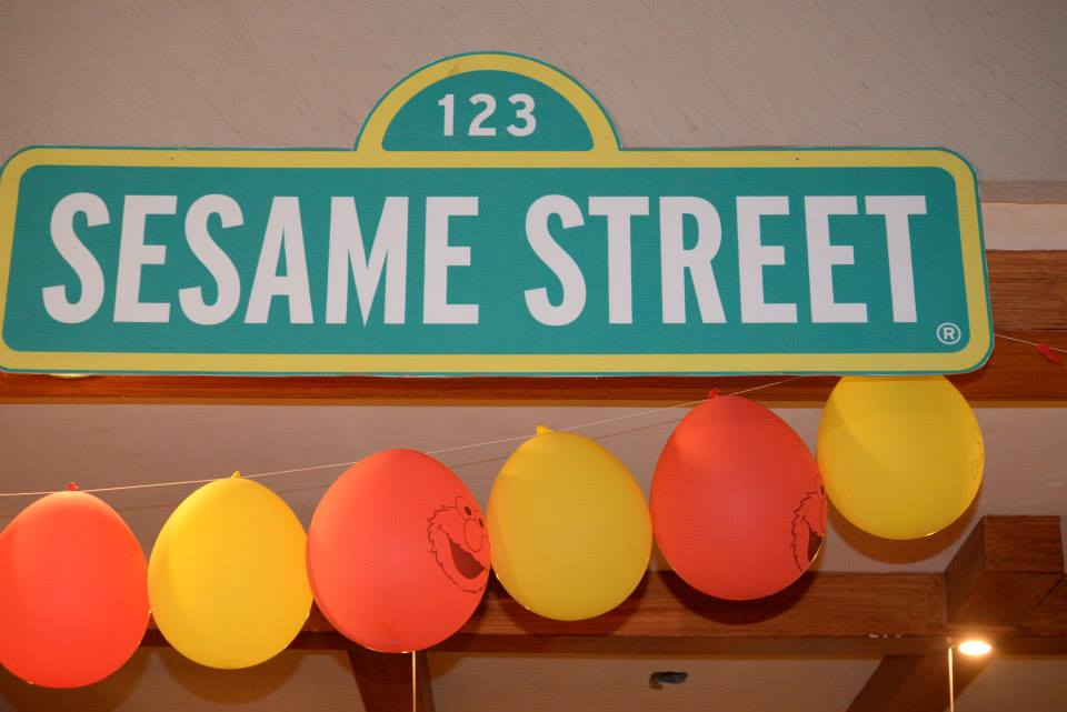 Sesame Street Birthday Party Cutout Board