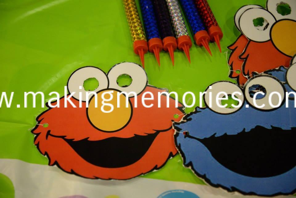 Sesame Street Birthday Party Masks