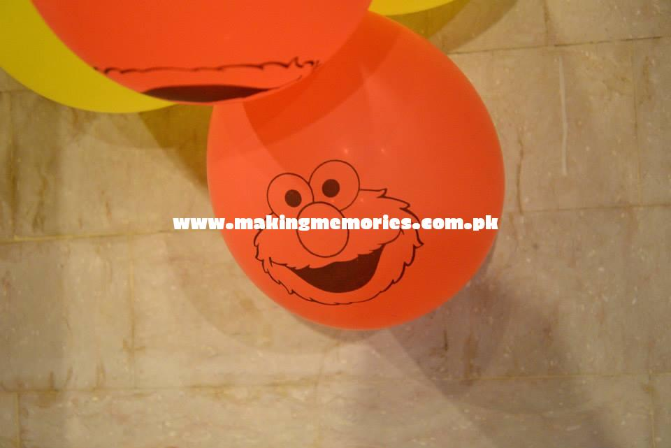 Sesame Street Birthday Party Printed Ballons