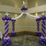 Purple White Balloon Castle