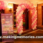 Lulu Catty Pink and White Balloon Arch