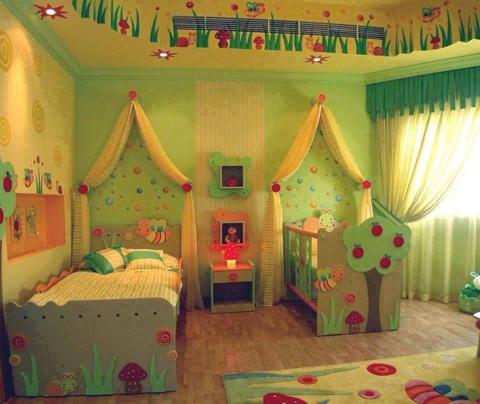 Green Room Interior for kids with Honey Bee Theme
