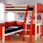 Red Bunk Bed with Sofa